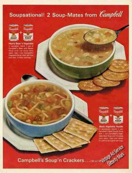 "Campbell's Soups Large Color ""Soup-mates"" (1963)"