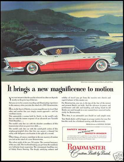 Buick Roadmaster Red White Car Vintage (1957)