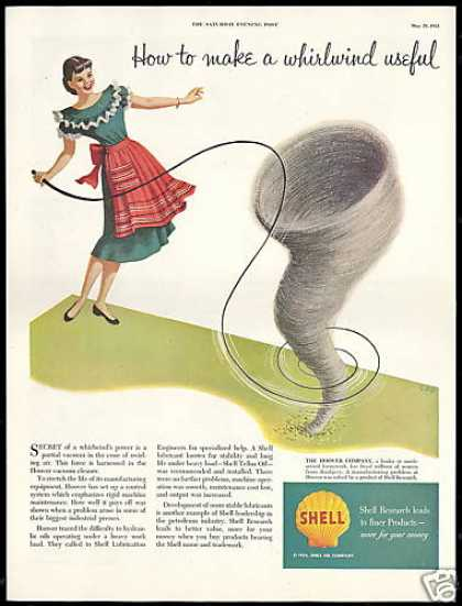 Shell Oil Research Hoover Vacuum Cleaner Whirl (1954)
