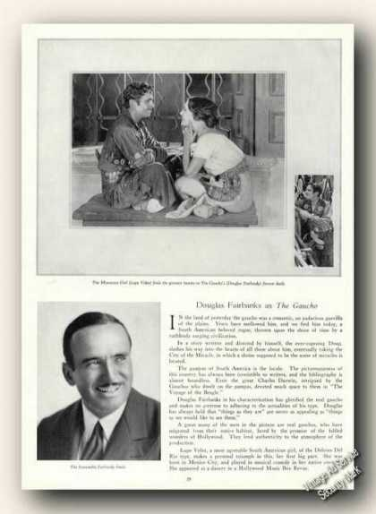 Douglas Fairbanks/lupe Velez Theatre Print Photos (1928)