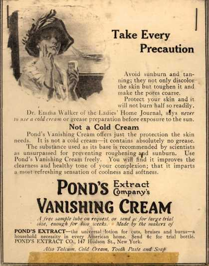 Pond's Extract Co.'s Pond's Vanishing Cream – Take Every Precaution (1914)