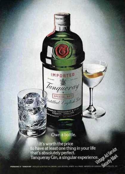 Tanqueray Own a Bottle It's Worth the Price (1975)