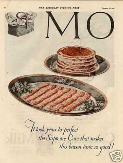 Morris & Company Bacon Color Ad 2 Page (1921)