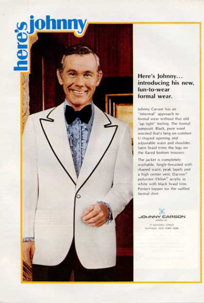 Here's Johnny Carson Formal Suit Jacket (1971)