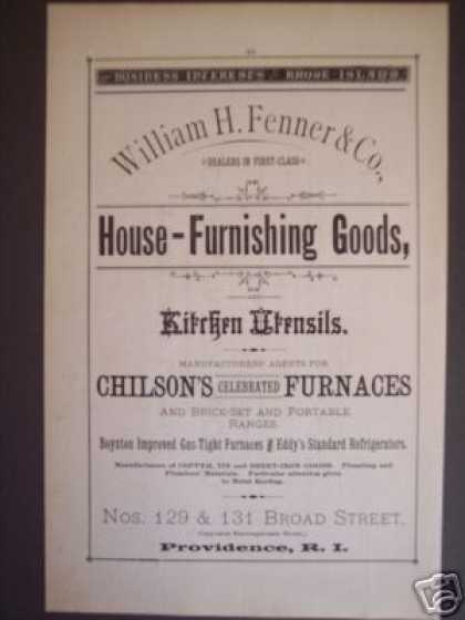 William H. Fenner Providence Ri Store (1881)