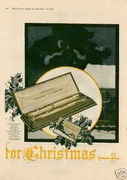 Wahl Eversharp Pen & Pencil Color Ad 2 Page (1924)