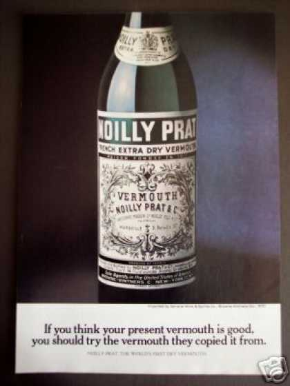 Noilly Prat Dry Vermouth Bottle Photo (1971)