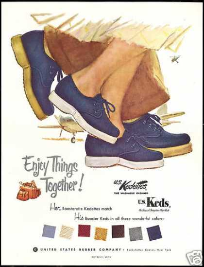 Shoes US Kedettes Keds United States Rubber Co (1953)