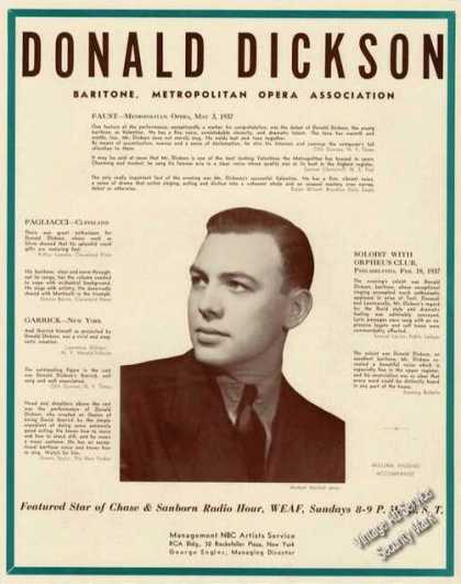 Donald Dickson Photo Opera Music (1939)