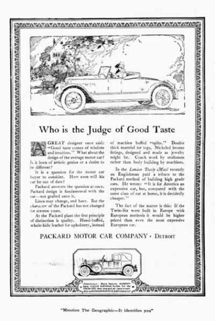 Packard Open Roadster (1920)