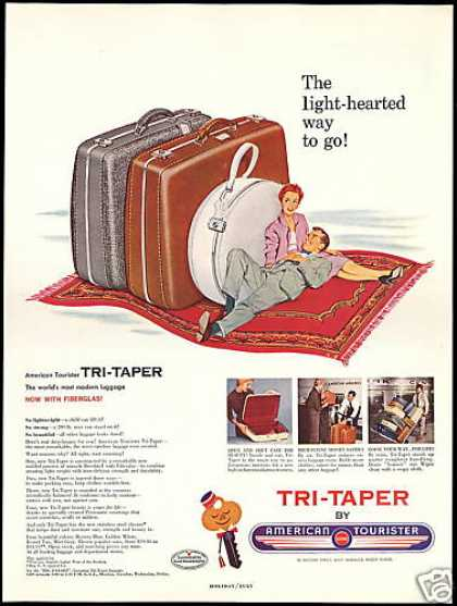 American Tourister Tri-Taper Luggage (1954)