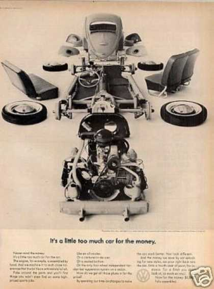 "Volkswagen Beetle Car Ad ""It's a Little Too Much.. (1964)"