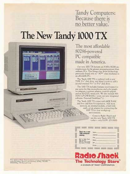 Radio Shack Tandy 1000 TX Computer (1987)