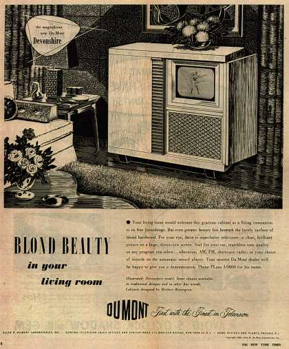 Allen B. DuMont Laboratorie's Television – Blond Beauty in your living room (1948)