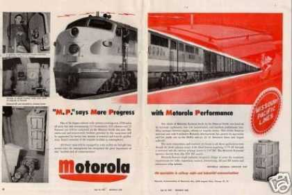 Motorola Railroad Radio Ad Missouri Pacific Rr (1951)