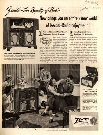 Zenith Radio Corporation's Various – Zenith – The Royalty of Radio now brings you an entirely new world of Record & Radio Equipment (1950)