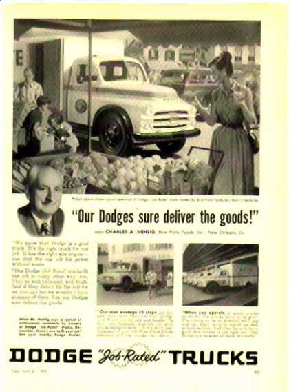 Dodge Trucks – Blue Plate Foods – Sold (1952)