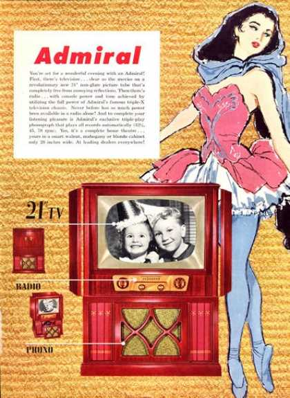 Admiral Tv Television Console Ballet (1952)
