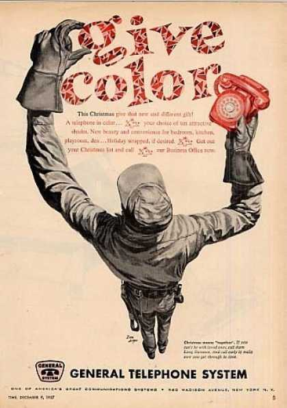 "General Telephone Ad ""Give Color... (1957)"