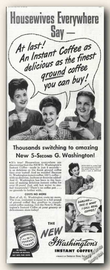 G.washington's Instant Coffee (1946)