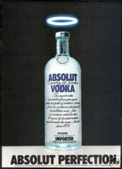 Absolut Perfection Vodka Halo Photo Print (1981)
