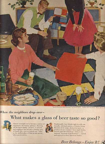 America's Beverage of Moderation's Pruett Carter (1956)