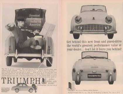 Triumph Car Ads – TR3 & Sedan – Set of Two (1958)