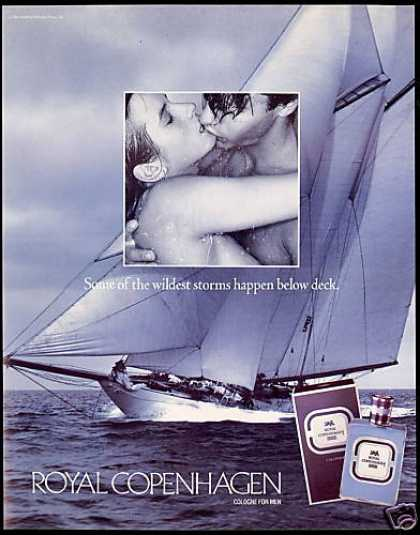 Royal Copenhagen Cologne Sailboat Below Deck (1993)