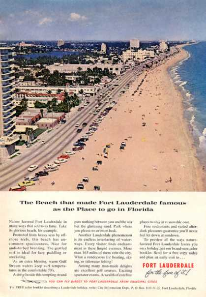 Fort Lauderdale Beach Florida View (1964)