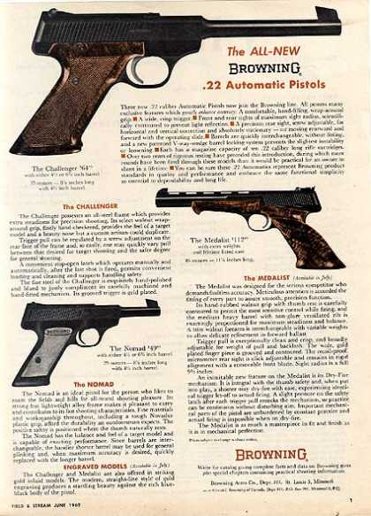 Browning's .22 Automatic Pistols (1962)