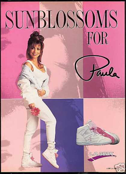 L A Gear Shoes Pretty Paula Abdul Photo (1991)