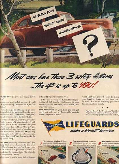 Goodyear's Lifeguard Tires (1945)