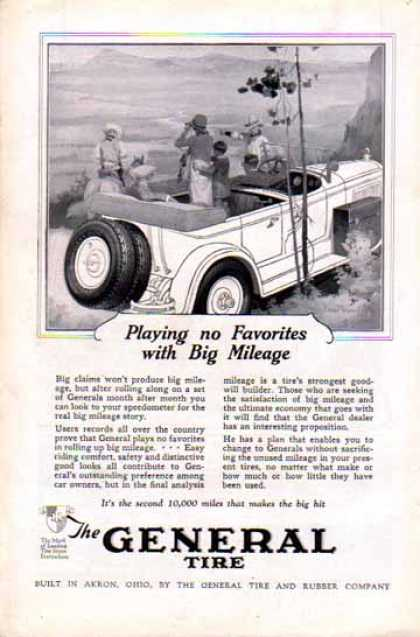 General Tire – Playing No Favorites with Big Mileage (1924)