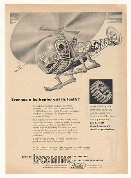 Bell Helicopter Artzybasheff art Lycoming Gears (1952)