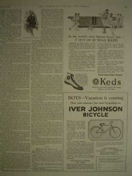 US Rubber Keds AND Iver Johnson Bicycle (1925)