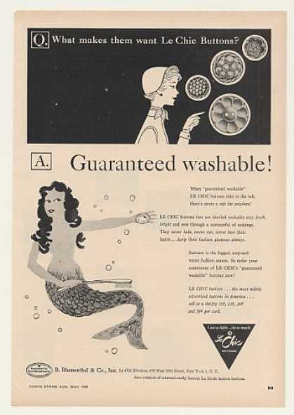 Le Chic Buttons Washable Mermaid (1954)