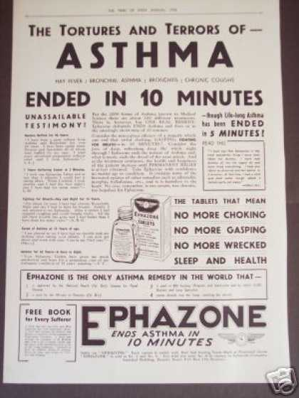 Asthma Cure In 10 Minutes Medicine (1936)