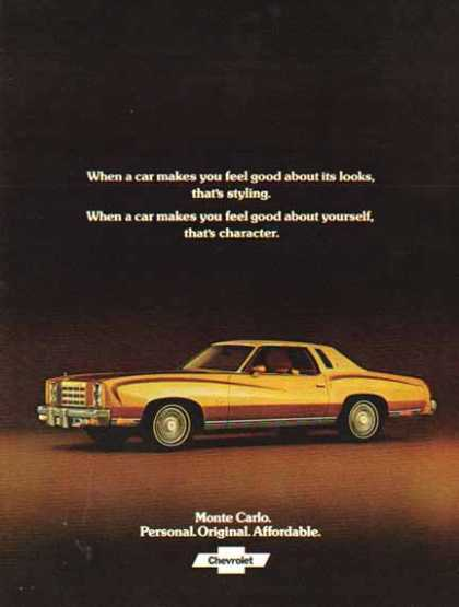 Chevrolet Car – Monte Carlo / Gold – Sold (1977)