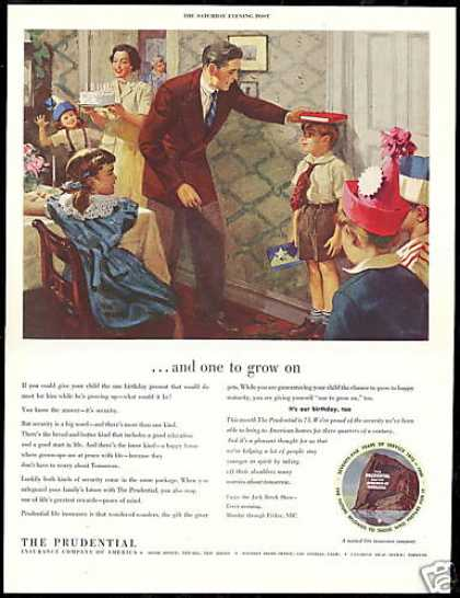 Prudential Insurance Company 75th Birthday Art (1950)
