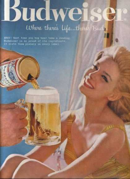 """Ahoy! Next time you buy beer take a reading. (1959)"