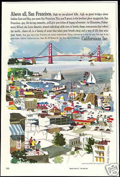 California San Francisco Dong Kingman Art (1961)