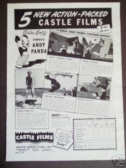 Castle Films Walter Lantz Andy Panda Movie (1947)
