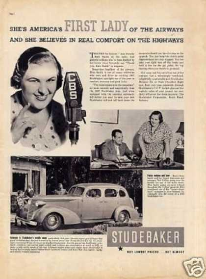Studebaker Car Ad Kate Smith (1937)