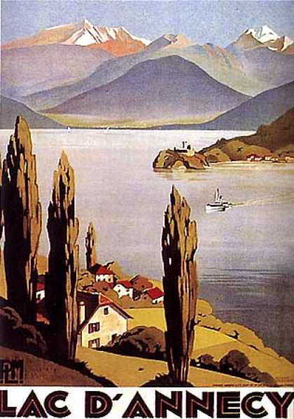 Lac d'Annecy by Roger Broders (1930)
