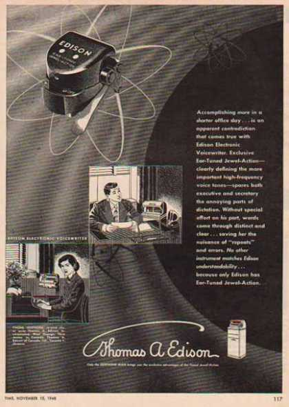 Edison Voicewriter – Ediphone – Sold (1948)