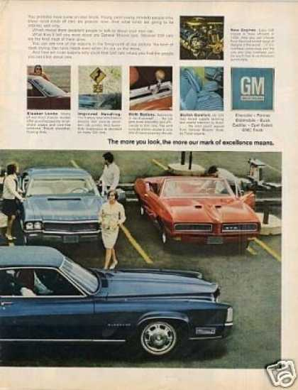 General Motors Cars Ad 2 Page (1968)