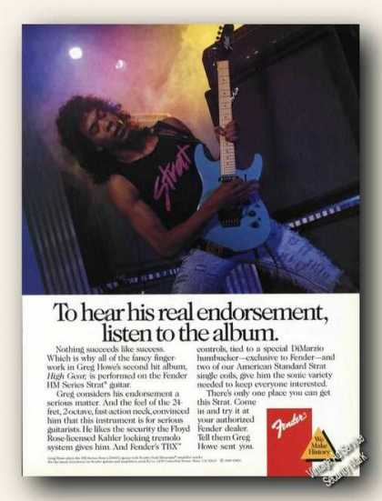 Greg Howe Photo Fender Promo (1989)
