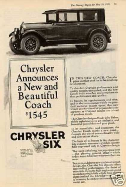 Chrysler Six Coach (1925)
