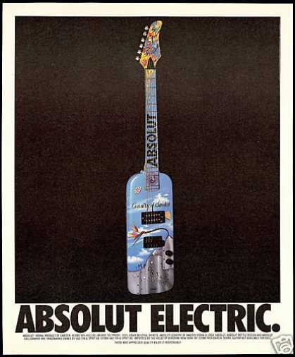 Absolut Electric Guitar Vodka Bottle (1995)