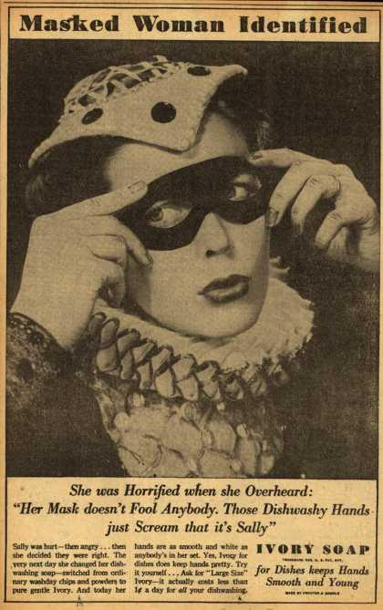Procter & Gamble Co.'s Ivory Soap – Masked Woman Identified (1937)